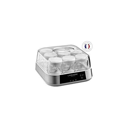 LAGRANGE 459601 - Yogurtera (1,665 L, Acero inoxidable, 0,185 L, Requesón, Yogur, LED, 18 W)