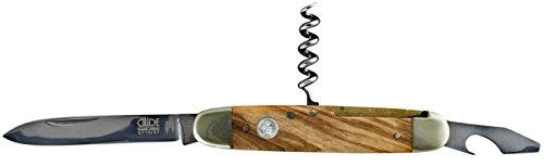 Güde Taschenmesser ALPHA-OLIVE Serie Klingenlänge: 7 cm Olivenholz, X715/07, Messer - Solingen - Deutsche Qualität, robust - scharf - geschmiedet - hochwertig