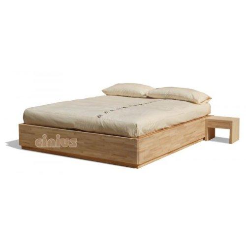 Box letto contenitore in legno massello di faggio