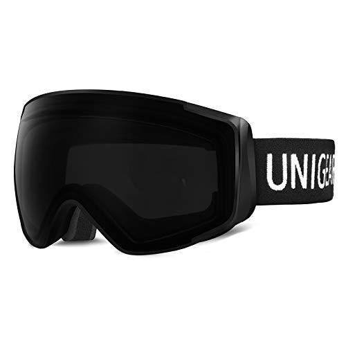 Unigear Gafas de Esquí OTG Esquiar Protección UV 400 Snowboard Revo Lentes Doble con Gran Campo de Visión Anti-Niebla Anti-Reflejo de Nieve para Padre-Hijo Adulto Mujer Hombre Niños Unisex