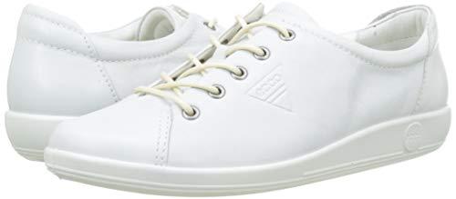 ECCO Soft 2.0, Casual Shoes Women's, White (1007), 6 UK EU