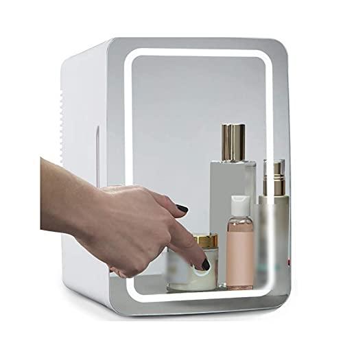 OMVOVSO Refrigerador De Cuidado De La Piel del Espejo del Maquillaje 2 En 1, Refrigerador Cosmético para El Alquiler De Oficinas De Dormitorio Auto - Cuidado De La Piel Ideal Y Cosméticos,Clear