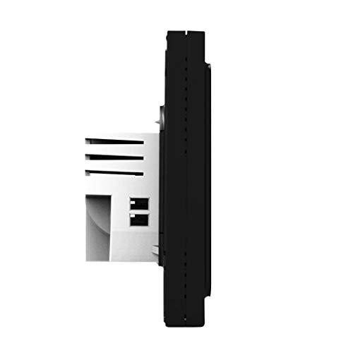 rongweiwang Calentador Caldera Controlador de Sala WiFi termostato de la Caldera de calefacción del termostato Pantalla LCD Temperatura Ambiente con luz de Fondo, Negro