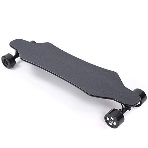 Skateboard Elettrico, 40 km/h Telecomando a Quattro Ruote a Quattro Ruote, motorino per Scooter ad Alte Prestazioni con carico Massimo di 150 kg, per pendolarismo, Skateboard(UE 110~240 V.)