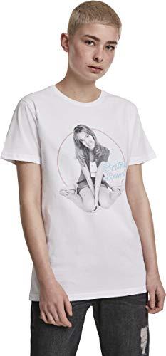 MERCHCODE Camiseta Britney Spears para Mujer, Color Negro, XXL