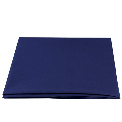 Premium Cotton Blend Broadcloth Poplin Fabric for Costumes and Crafting by The Yard(Navy Blue,1 Yard)