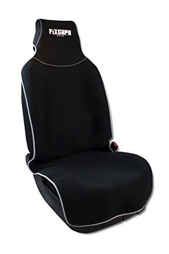 fixcape Neoprene, Vergleichssieger Autositzbezüge universal wasserdicht, Autositzbezug Schonbezug Sitzbezug Sitzauflage für das Auto Sitzbezüge Schonbezüge Autositz, Schwarz-Grau