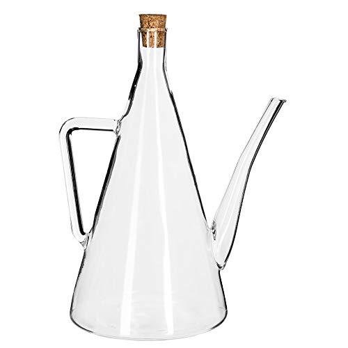 Secret de Gourmet dzbanek na olej butelka dozownik oleju 500 ml, szkło, przezroczysty, wys.: 22 cm