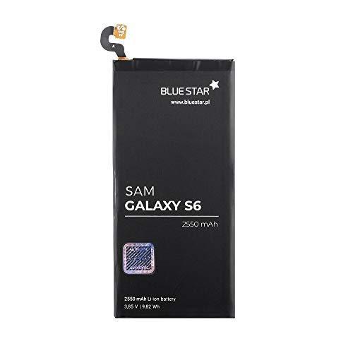 Bluestar Akku Ersatz kompatibel mit Samsung Galaxy S6 G920F 2550 mAh Austausch Batterie Accu EB-BG920ABE