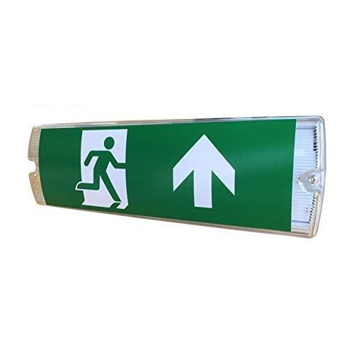 LED Notbeleuchtung, Fluchtwegleuchte, Lichttechnik24®, IP65, 4 Piktogramme, 3h Notstromakku, Notausgang, Rettungszeichenleuchte, EXIT, Dauerlicht für Wand und Decke