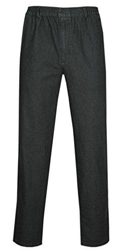 T-MODE Herren Jeans Stretch Schlupfhose Schlupfjeans ohne Cargo-Taschen-Schwarz-4XL