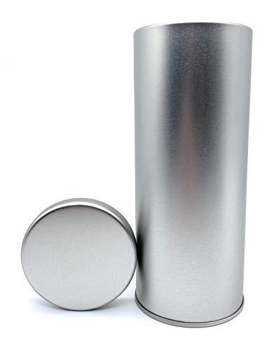 Perfekto24 Aufbewahrungs- Metalldose - Kaffeepaddose hält die Pads länger frisch - Pad Dose für Senseo Pads - edle Vorratsdsdose für Pads in Silber