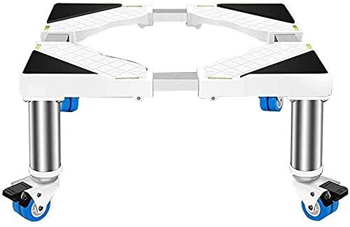 Ghongrm Trolley/Ruedas multifuncionales Modifiques Domésticos Electrodomésticos Base de Lavadora Pedesters & Marcos Ajustable L/W 45-65 cm Frigorífico Base Rack Evento Dentro de Cero 4 Ruedas (Col