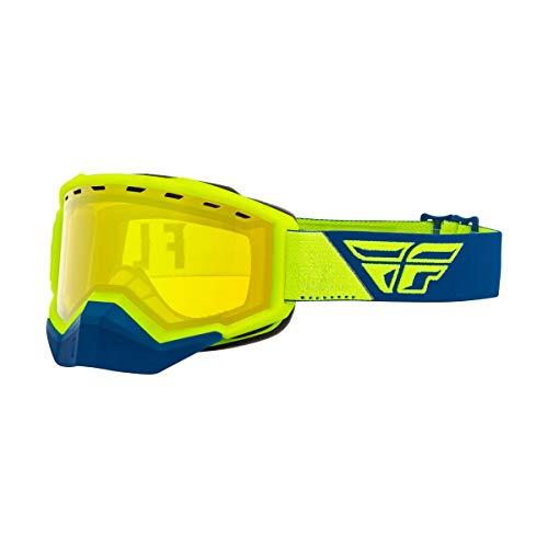 Fly Racing 2021 Focus Snow Goggles (HI-VIZ/Blue/Yellow Lens)