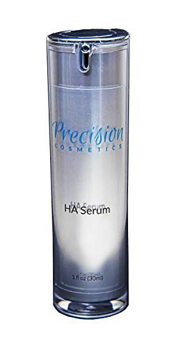 Anti-Aging Pure Hyaluronic Acid Serum, Brightening Firming Moisturizer with Peptides, Day and Night Formula, Best for Dry, Dehydrate Skin Underneath Eyes, Hands and Face (1 fl oz)