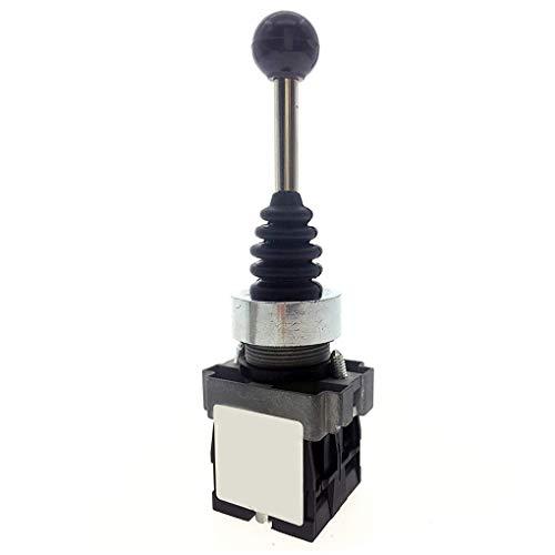 Guangcailun Direcciones de Doble Resorte de Retorno del Interruptor automático Monolever Reiniciar 2 2 Interruptor de posición de la Palanca de Mando Posiciones AC 600V