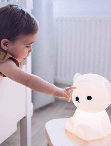 Mr Maria - Boris First Light Lampe 2.0 - 21cm Höhe - Ein kleiner Freund für Ihr kleines Wunder, Dimmbare & Aufladbare LED-Kinderlampe - Zum Mitnehmen in den Urlaub, Übernachtungen bei Freunden und Familie