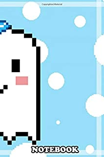 Notebook: To See More Pixel Art Painti Cute Ghost Boy Pixel Art , Journal for Writing, College Ruled Size 6