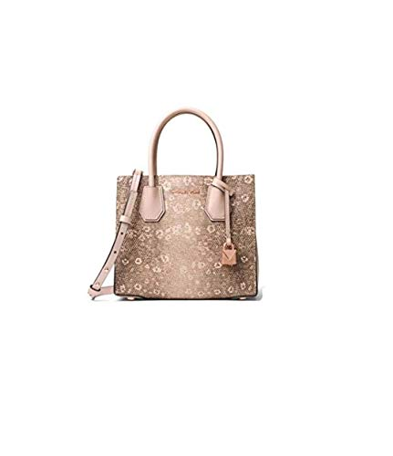 """Embossed leather Gold-Tone Hardware 8.5""""W X 7.5""""H X 4""""D Handle Drop: 4.25"""" Adjustable Strap: 18""""-20.5"""" Interior Details: Center Zip Compartment Interior: 100% Textured Coated Canvas"""