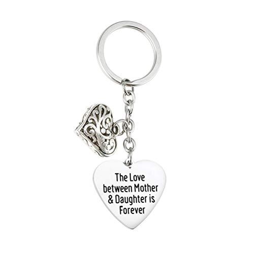 VALICLUD Chaveiros para presente do dia das mães Impressão de cartas Porta- chaves com pingente em forma de coração em aço inoxidável Enfeites de artesanato för påskfest