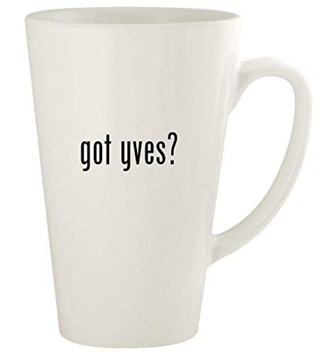 got yves? - 17oz Ceramic Latte Coffee Mug Cup, White