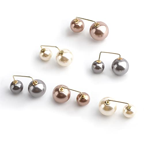 LUTER 6 Pezzi Spilla di Perle Moda Spilla di Perle Artificiali Fermaglio per Scialle del Maglione per Donne Ragazze Festa di Matrimonio Regali di Decorazione, 3 Colori