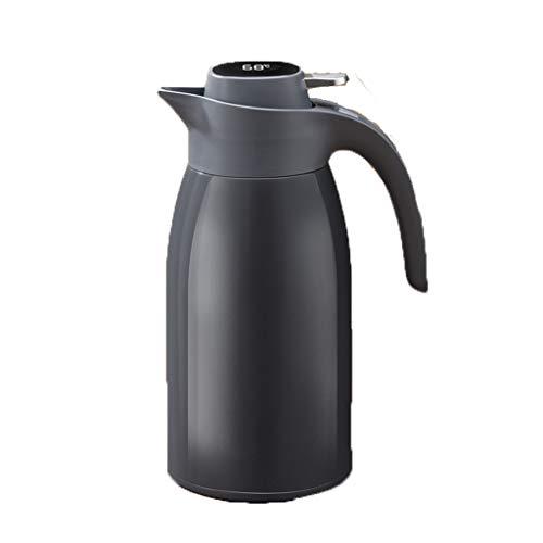 Aoyo 2L Isolierkessel, Smart Insulation Pot Pot Mit Großer Kapazität, Tragbare Thermoskaffeekanne Aus Edelstahl(Color:Dunkelgrau)