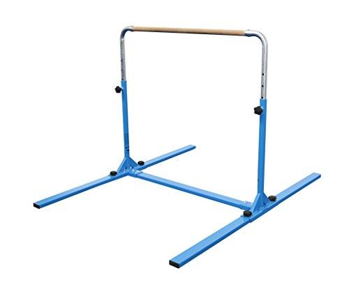 Tumbl Trak Jr. Bar PRO Adjustable Height Horizontal Gymnastics Kip Bar for The Gym for Home, Blue