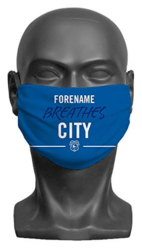 Personalised Cardiff City FC Breathes Adult Face Mask- Large