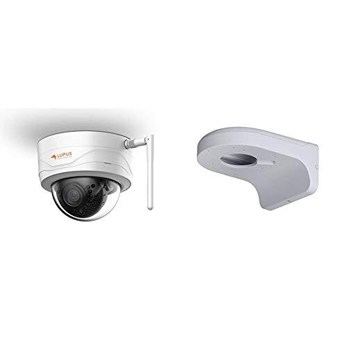 Lupus 3MP WLAN IP Kamera für draußen, SD Slot, 100°, Nachtsicht, Bewegungserkennung, Ios und Android App & HDTV - Wandhalterung für die LE338 Domekamera