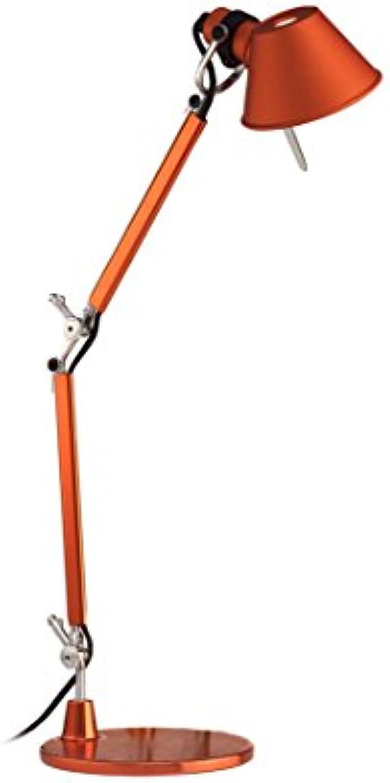 Artemide Tischlampe Tolomeo Micro mit Basis Orange