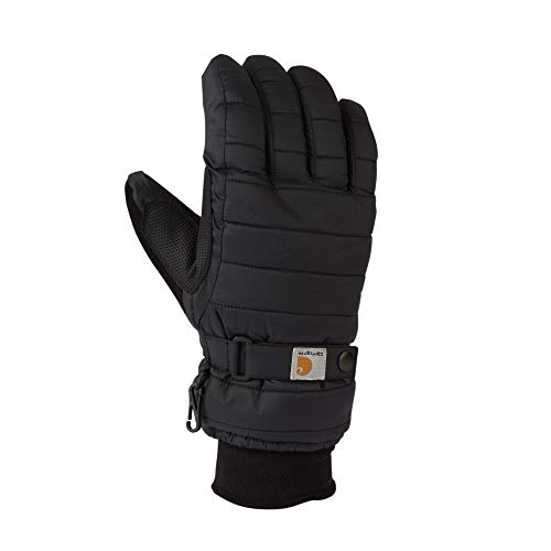 Carhartt Women's Quilts Insulated Breathable Glove with Waterproof Wicking Insert, Black, Large