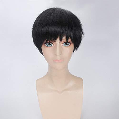 Anime Tokyo Ghoul Ken Kaneki White Black Short Wig Cosplay Costume Ken Kaneki Heat Resistant Synthetic Hair Men Cosplay Wigs Black