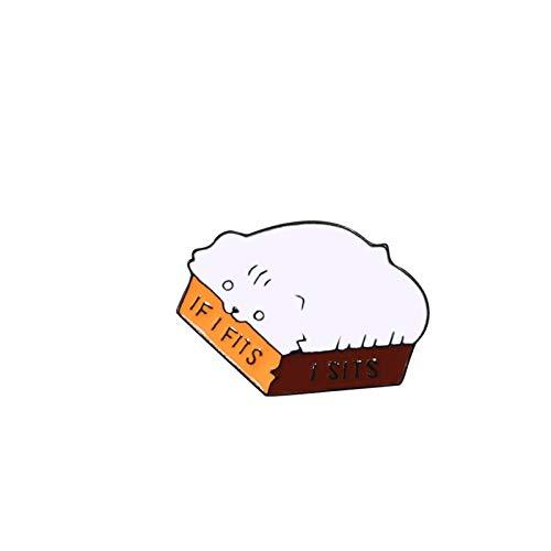 Relovsk Gute Sache passiert Kreative Emaille Pin Papier Broschen Icon Pin Lustige Tasche Button Abzeichen Kleidung Anstecknadel Schmuck Zubehör-Katze
