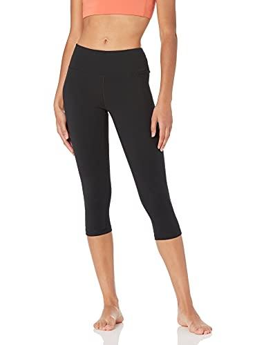Amazon Essentials Women's Studio Mid-Rise Capri Yoga Legging, Black, Small