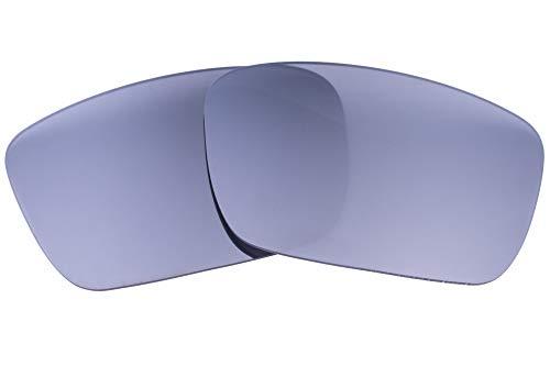 LenzFlip Lentes compatibles con la celda de combustible Oakley para hombre Regular Espejo Plata flash