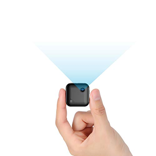 TDW - Cámara espía 1080P, mini cámara inalámbrica WiFi con micrófono de detección de visión nocturna, micrófono portátil Pocket IP para iPhone, Android, Smartphone, videocámara interior de exterior