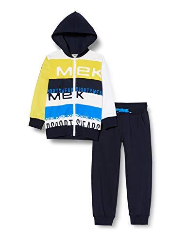 MEK Jungen Tuta Felpina Zippata Con CAPP. Jogginganzug, Gelb (Giallo 14 428), 164 (Herstellergröße: 14A)