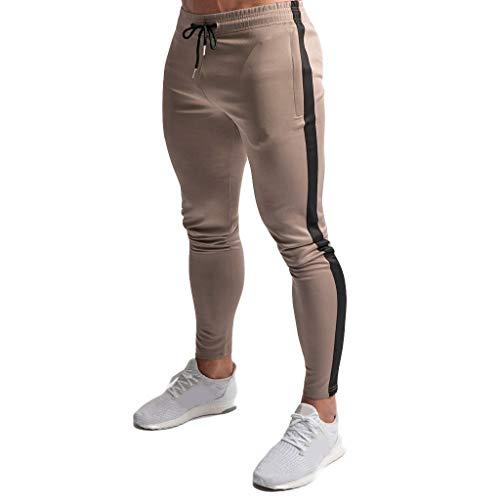 Manadlian-Homme Pantalon Jogging Bas de Survêtement Sweat Pants Sport Slim Fit Pants de Rayure Ete 2019 Pantalon de Sport