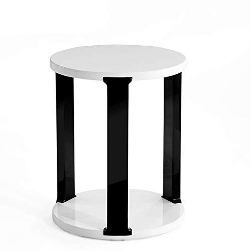 H-ei Simple Mini Sala de Estar Sofá Mesa de café Muebles Pequeño Apartamento Blanco Dormitorio Redondo Mesa pequeña