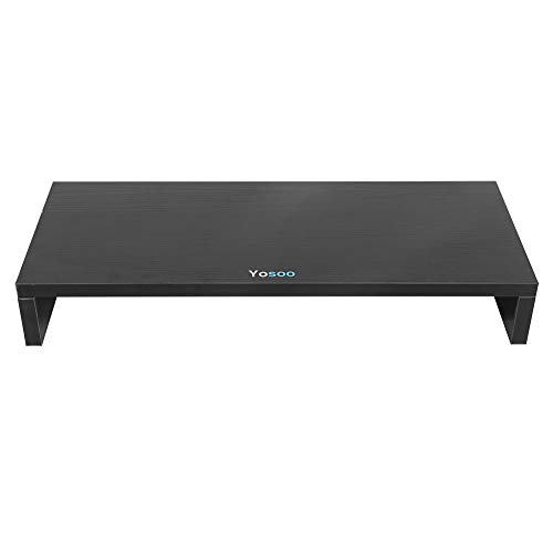 Powerlift Monitor Stand - Screen Increase PC Monitor Desk Bureau Plank Stand Hout 3 Kleur TOP voor thuis of op kantoor
