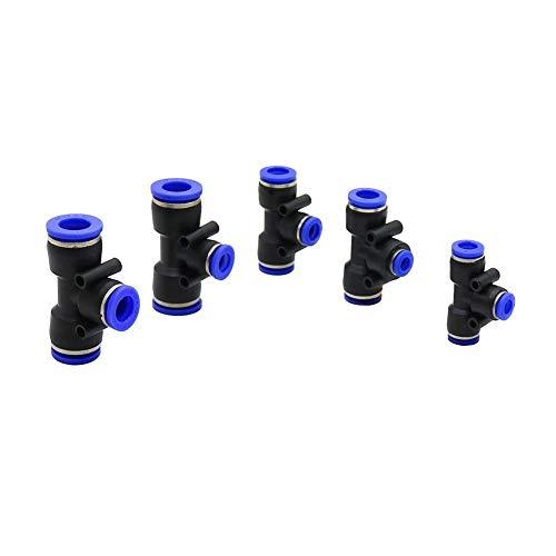 Neumático De Anclaje Rápido Slip-lock te reducida de conectores for Industria Agricultura de vapor frío Sistema de Down manguera de jardín Conector 5 piezas (Color : 12mm to 8mm)