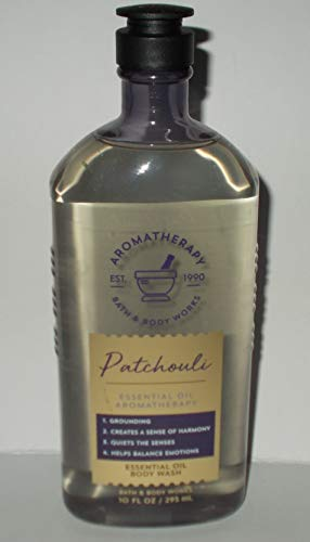 Bath and Body Works Aromatherapy PATCHOULI Essential Oil Body Wash 10 Fluid Ounce
