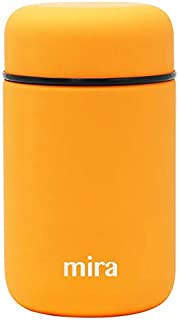 MIRA Lunch, Food Jar   Vacuum Insulated Stainless Steel Lunch Thermos   13.5 oz   Pumpkin
