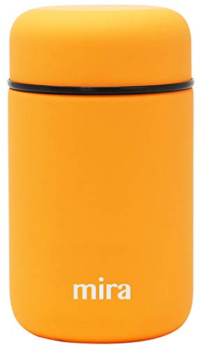 MIRA Lunch, Food Jar | Vacuum Insulated Stainless Steel Lunch Thermos | 13.5 oz | Pumpkin