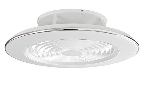 Plafón con ventilados ALISIO - Iluminación interior MANTRA - LED 70W Ventilador 30W - Dimable 2700K-5000K - color blanco