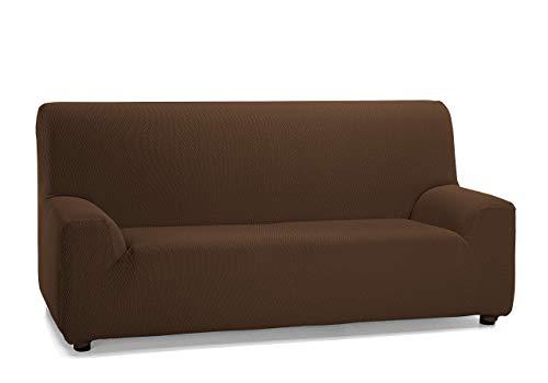 FEIGER - 3-Sitzer Gummibandbezug für Sofa, Modell Tunis, Maße 180 bis 240 cm, Braun