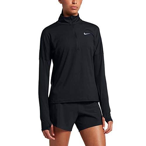 Nike Women's Dri-Fit Element Long Sleeve Running Top (Medium, Black)