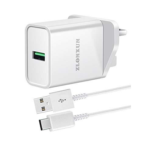 ZLONXUN Cargador rápido con cable USB C para Xiaomi Redmi Note 9/9S/8 Pro/8T/7,9/9A/9C, Xiaomi mi 9/9 Lite/9T/8/8 Lite/9 SE
