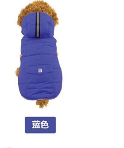 Dog kurtka zimowa Vest Jackets, niebieska kamizelka odblaskowa Petdog woda zima ciepły outfit duże ramiona na zimę płaszczyk duży średni, mały wyściełany kombinezon kot z włókniny, chihuahua zimno, obraz, S